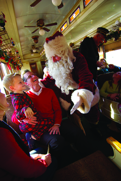 Visit Santa this Christmas on the North Pole Express Train Ride in Grapevine, Texas