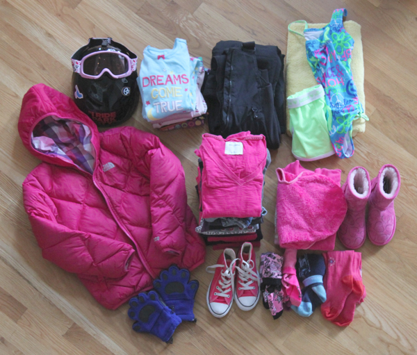 ski vacation packing list