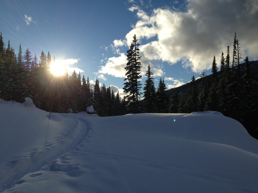 Snowshoeing at Sun Peaks Resort in British Columbia