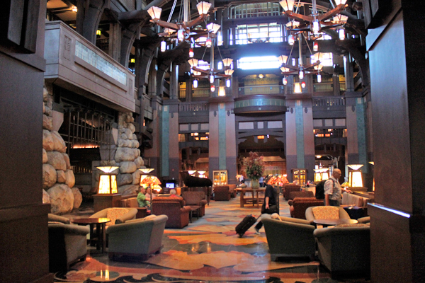 lobby at Disney's Grand Californian