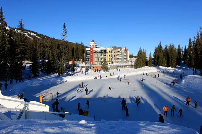 skating and ice hockey at silver star