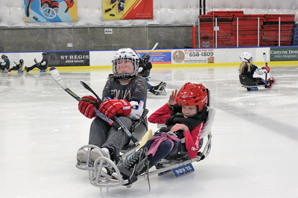 sled hockey at the national ability center park city utah