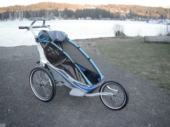 Thule Chariot CX1 jogging stroller and special needs bike trailer