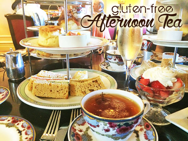 gluten free tea at the Farimont Empress Victoria BC