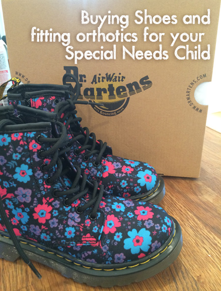 buying shoes for special needs and orthotics