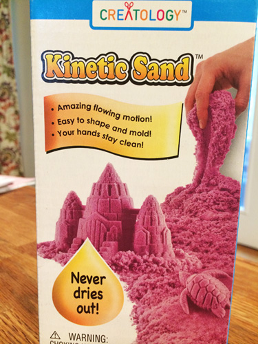 kinetic sand things to do with special needs child