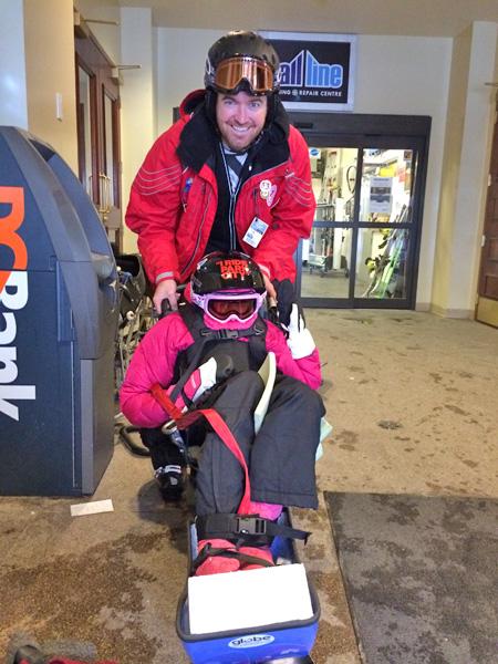 adaptive ski at sun peaks