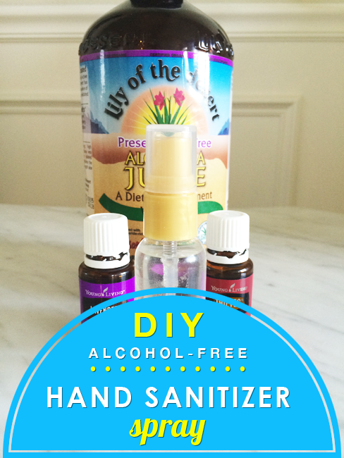 Homemade Hand Sanitizer Spray Alcohol Free With Essential Oils