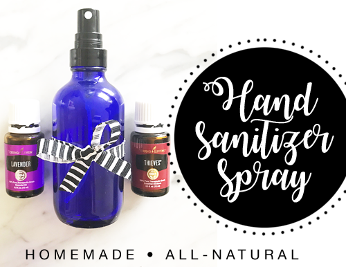 Homemade Hand Sanitizer Spray with Essential Oils