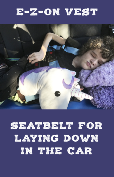 Seatbelt for laying down in the car