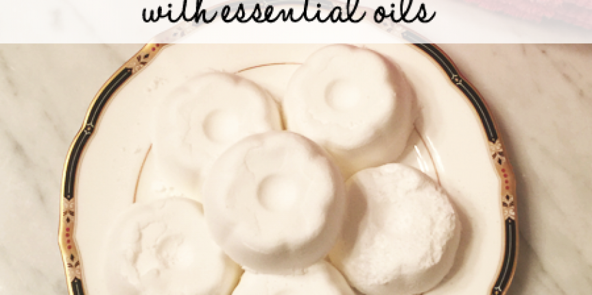 DIY Aromatherapy Shower Vapor Disks with Essential Oils