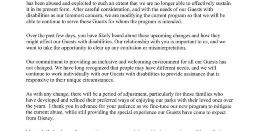 Disney's Official Word on the Guest Assistance Card Changes