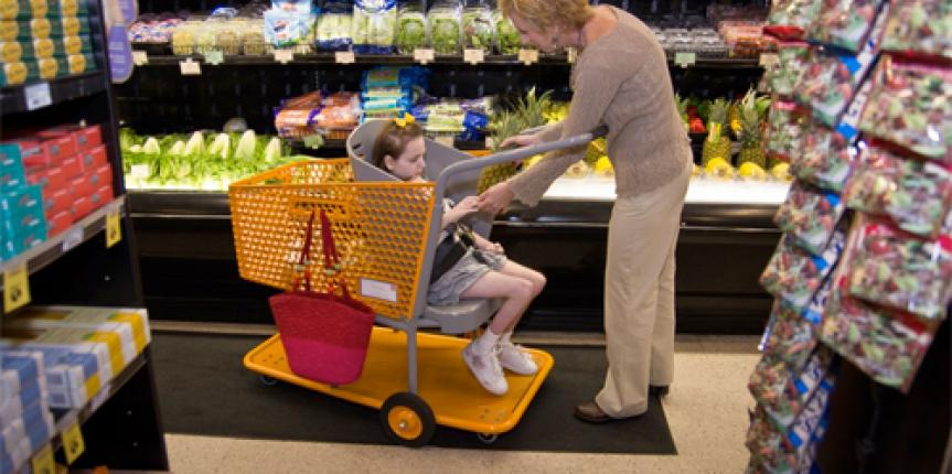 Caroline's Cart – Grocery cart for special needs