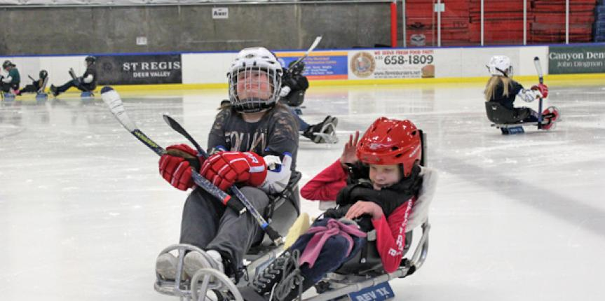 Sled Hockey at the National Ability Center