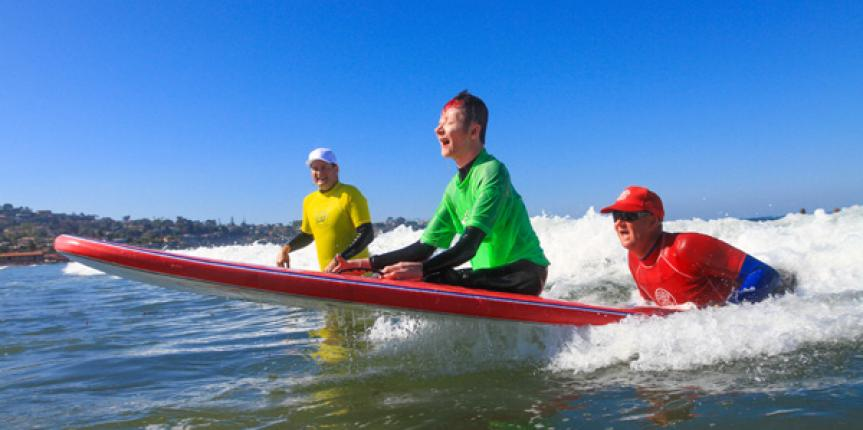 Adaptive Surf Lessons in San Diego for Special Needs
