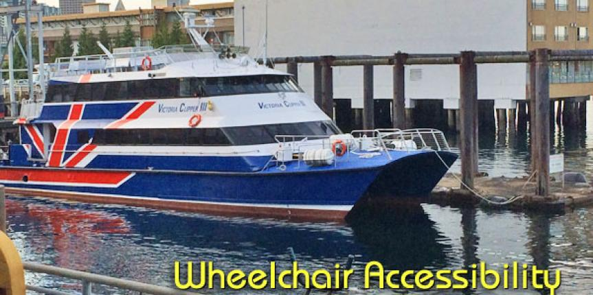 Wheelchair Accessibility Aboard the Victoria Clipper